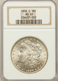 Morgan Dollars: , 1888-O $1 MS65 NGC. NGC Census: (1332/44). PCGS Population(1769/218). Mintage: 12,150,000. Numismedia Wsl. Price for probl...