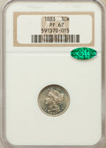 Proof Three Cent Nickels: , 1883 3CN PR67 NGC. CAC. NGC Census: (80/4). PCGS Population (63/4).Mintage: 6,609. Numismedia Wsl. Price for problem free ...