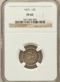 Proof Seated Dimes, 1879 10C PR65 NGC....