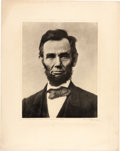 Photography:Official Photos, Abraham Lincoln: Moses Rice Tissue Paper Photo of Ostendorf O-77. ...