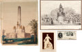Political:Small Paper (pre-1896), Abraham Lincoln: Monument and Tomb Group.... (Total: 4 Items)