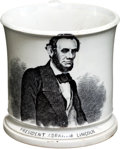 Political:3D & Other Display (pre-1896), Abraham Lincoln: ABC Style Mug....