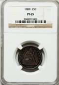 Proof Seated Quarters: , 1888 25C PR65 NGC. NGC Census: (35/23). PCGS Population (18/13).Mintage: 832. Numismedia Wsl. Price for problem free NGC/P...