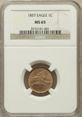 Flying Eagle Cents: , 1857 1C MS65 NGC. NGC Census: (219/14). PCGS Population (189/14).Mintage: 17,450,000. Numismedia Wsl. Price for problem fr...