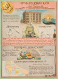 Advertising:Signs, San Francisco Advertising Broadside: A Colorful Sign for Wm. T. Coleman and Co., Shipping and Commission Merchants....