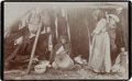 Photography:Cabinet Photos, Washoe Basket-Weaving: Scarce Early Image of a Basket-Weaver, Circa1890. ...
