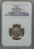 Buffalo Nickels, 1935 5C Double Die Reverse-- Reverse Scratched -- NGC Details.Fine. FS-801. NGC Census: (17/1571). PCGS Population (1...