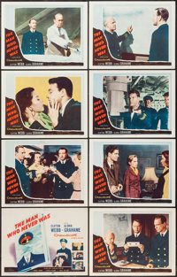 "The Man Who Never Was (20th Century Fox, 1956). Lobby Card Set of 8 (11"" X 14""). Mystery. ... (Total: 8 Items)"