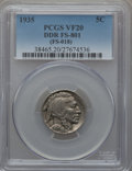 Buffalo Nickels, 1935 5C Doubled Die Reverse. VF20 PCGS. FS-801. (FS-018). PCGSPopulation (9/34). NGC Census: (0/0)....