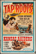 "Movie Posters:Drama, Tap Roots/Kansas Raiders Combo (Universal International, R-1956). One Sheet (27"" X 41""). Drama.. ..."