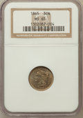 Three Cent Nickels: , 1865 3CN MS65 NGC. NGC Census: (132/17). PCGS Population (101/39).Mintage: 11,382,000. Numismedia Wsl. Price for problem f...