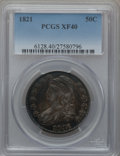 Bust Half Dollars: , 1821 50C XF40 PCGS. PCGS Population (88/468). NGC Census: (28/475).Mintage: 1,305,797. Numismedia Wsl. Price for problem f...