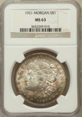 Morgan Dollars: , 1921 $1 MS63 NGC. NGC Census: (34222/44559). PCGS Population(28862/28443). Mintage: 44,690,000. Numismedia Wsl. Price for ...