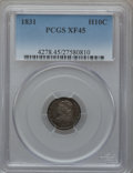 Bust Half Dimes: , 1831 H10C XF45 PCGS. PCGS Population (43/640). NGC Census:(11/656). Mintage: 1,200,000. Numismedia Wsl. Price for problem ...