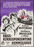 "Movie Posters:War, The Angry Hills (MGM, 1959). Danish One Sheet (24.5"" X 33.5"").War.. ..."