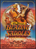 "Movie Posters:Comedy, Blazing Saddles (Warner Brothers, 1974). French Affiche (22.5"" X31""). Comedy.. ..."