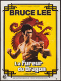 "Movie Posters:Action, Enter the Dragon (C.F.D.C., 1974). French Affiche (23.5"" X 31.5""). Action.. ..."