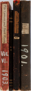 Books:Photography, [Photography]. The Camera and Dark Room. Vol. I, II, IV, VI. Group of Four Bound Volumes. Camera and Dark Room, ... (Total: 4 Items)