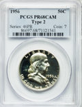 Proof Franklin Half Dollars: , 1956 50C Type Two PR68 Cameo PCGS. PCGS Population (624/32). NGCCensus: (408/126). Numismedia Wsl. Price for problem free...