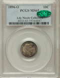 Barber Dimes: , 1896-O 10C MS65 PCGS. CAC. Ex: Lily Nicole Collection. PCGSPopulation (8/5). NGC Census: (5/5). Mintage: 610,000. Numismed...
