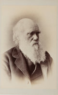 Books:Prints & Leaves, [Photograph]. Charles Darwin. Measures approx. 5.75 x 4 inches andmounted to heavy stock. Mild toning. Near fine....
