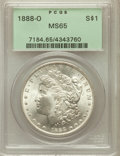 Morgan Dollars: , 1888-O $1 MS65 PCGS. PCGS Population (1768/217). NGC Census:(1331/44). Mintage: 12,150,000. Numismedia Wsl. Price for prob...
