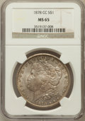 Morgan Dollars, 1878-CC $1 MS65 NGC....