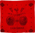 Political:Textile Display (pre-1896), Cleveland & Thurman: Jugate Red Bandanna....