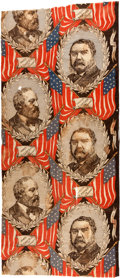 Political:Textile Display (pre-1896), Garfield & Arthur: Jugate Bunting....