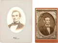 Photography:Cabinet Photos, Abraham Lincoln: Two Scarce Copy Image Cabinet Cards.... (Total: 2Items)