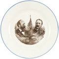 Political:3D & Other Display (pre-1896), Garfield & Arthur: Jugate Ironstone Plate....