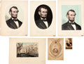 Political:Small Paper (pre-1896), Abraham Lincoln: Mourning Prints and Photos.... (Total: 6 Items)