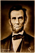 Political:3D & Other Display (1896-present), Abraham Lincoln: Centennial Three-Dimensional Effect Tile. ...