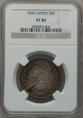 Reeded Edge Half Dollars, 1839 50C Capped XF40 NGC. NGC Census: (21/324). PCGS Population(39/346). Mintage: 1,392,976. Numismedia Wsl. Price for pro...