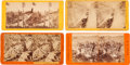 Photography:Stereo Cards, Lot of Four California Gold Mine & Rail Road Stereoviews.... (Total: 4 )