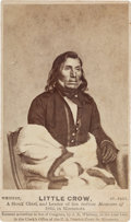 Photography:CDVs, Little Crow: A Scarce 1862 CDV of a Leader in the Minnesota Sioux Uprising....
