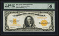 Large Size:Gold Certificates, Fr. 1173 $10 1922 Gold Certificate PMG Choice About Unc 58 EPQ.. ...