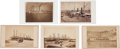 Photography:CDVs, Steamboats: Five Fantastic Albumen CDVs of 19th Century Steamboats.... (Total: 5 Items)