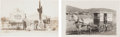 Photography:Official Photos, Real Photo Postcard: Two Horse Drawn Wagon Scenes.... (Total: 2Items)