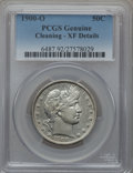 Barber Half Dollars, 1900-O 50C -- Cleaning -- PCGS Genuine. XF Details. NGC Census:(3/54). PCGS Population (23/81). Mintage: 2,744,000. Numism...