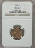 Indian Cents: , 1863 1C MS61 NGC. NGC Census: (123/1650). PCGS Population(52/2231). Mintage: 49,840,000. Numismedia Wsl. Price forproblem...