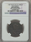 1787 COPPER New Jersey Copper, Small Planchet, Plain Shield -- Obverse Scratched -- NGC Details. Fine. NGC Census: (6/80...
