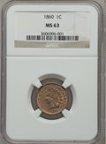 Indian Cents: , 1860 1C MS63 NGC. NGC Census: (224/549). PCGS Population (296/621).Mintage: 20,566,000. Numismedia Wsl. Price for problem ...