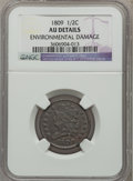 Half Cents: , 1809 1/2 C -- Environmental Damage -- NGC Details. AU. NGC Census:(12/198). PCGS Population (26/122). Mintage: 1,154,572. ...