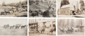 Miscellaneous:Postcards, Real Photo Postcards: Western Stage Coach and Freight Scenes,...(Total: 6 Items)