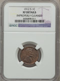 Lincoln Cents, 1912-S 1C -- Improperly Cleaned -- NGC Details. XF. NGC Census:(14/256). PCGS Population (45/444). Mintage: 4,431,000. Num...