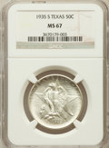 Commemorative Silver, 1935 SET Texas PDS Set MS67 NGC.... (Total: 3 coins)