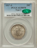 Standing Liberty Quarters: , 1917-S 25C Type One AU58 Full Head PCGS. CAC. PCGS Population(118/712). NGC Census: (49/582). Mintage: 1,952,000. Numismed...