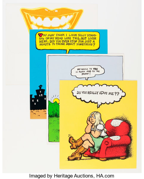 Robert crumb greeting card group american greetings lot 13612 memorabiliacomic related robert crumb greeting card group american greetings 1965 m4hsunfo
