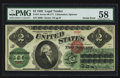 Large Size:Legal Tender Notes, Fr. 41 $2 1862 Legal Tender PMG Choice About Unc 58.. ...